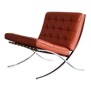 Stainless Steel Barcelona Chair by Mies Van Der Rohe for Knoll For Sale