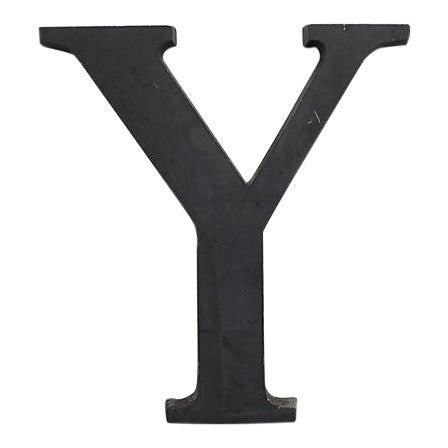Vintage Aluminum Letter Y For Sale