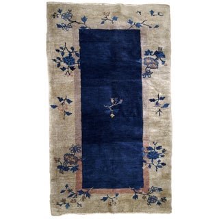 1900s Handmade Antique Peking Chinese Rug 2.10' X 4.10' For Sale