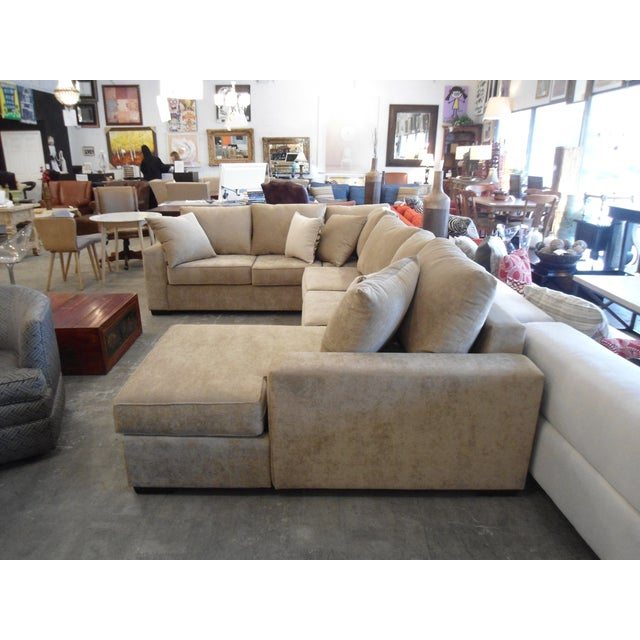 3-Piece Beige Sectional Sofa - Image 3 of 4