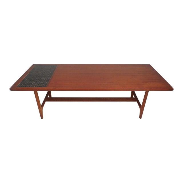 Vintage Modern Walnut Coffee Table For Sale