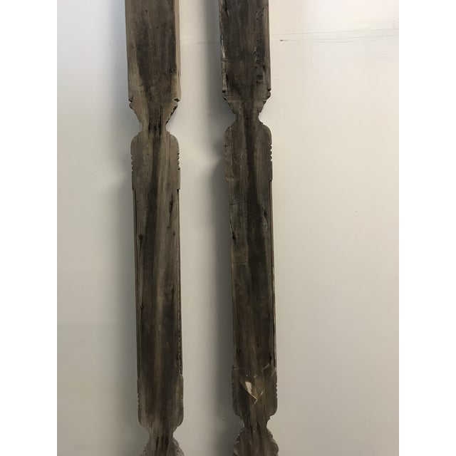 Antique Architectural Columns - a Pair For Sale - Image 4 of 6