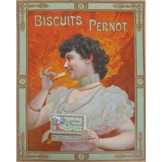 Original Art Nouveau Biscuits Pernod Vintage Poster