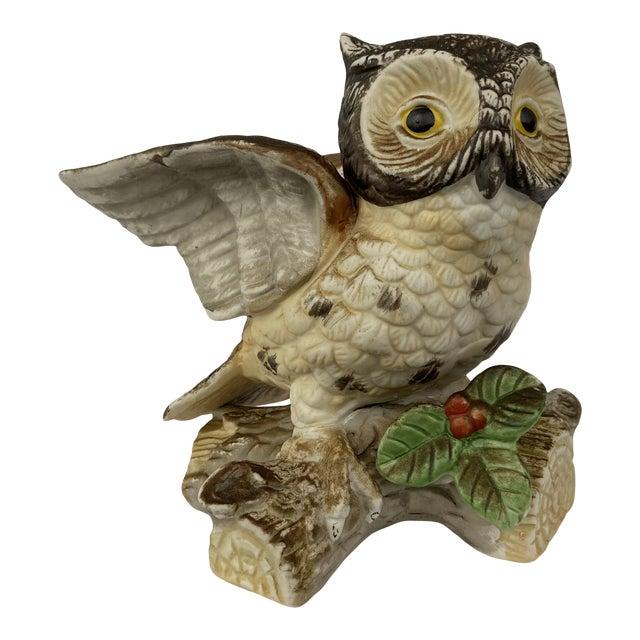 Vintage Ceramic Owl Figurine For Sale