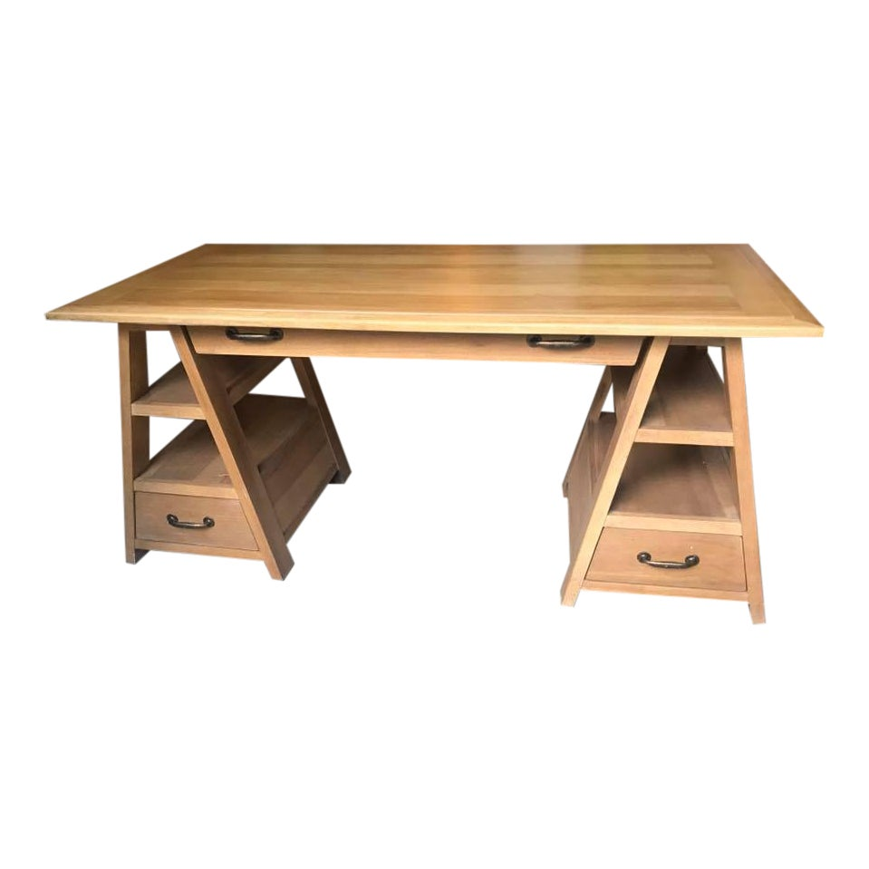 Paula deen down home sawhorse work table chairish