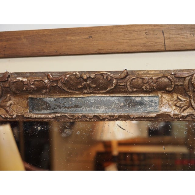 18th Century French Gilded Parclose Mirror For Sale In New Orleans - Image 6 of 6