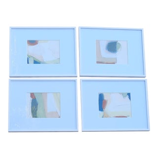 Beth Downey Modern Paintings. Set of 4 For Sale