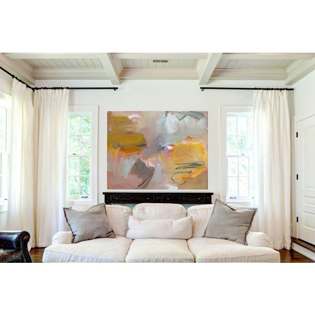 """Amber """"Sirocco"""" by Trixie Pitts XL Abstract Expressionist Oil Painting For Sale - Image 8 of 13"""