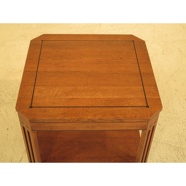 Stickley Arts & Crafts Oak Square Occasional Table - Image 2 of 8