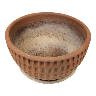 Stan Bitters Ceramic Thumb Pot Planter for Hans Sumpf With Original Saucer For Sale