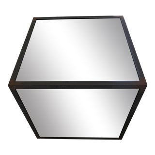 Industrial Mirrored Side Table For Sale