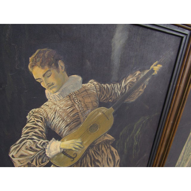 Herman Heyer Vintage Musician Oil Panels - A Pair For Sale - Image 7 of 9