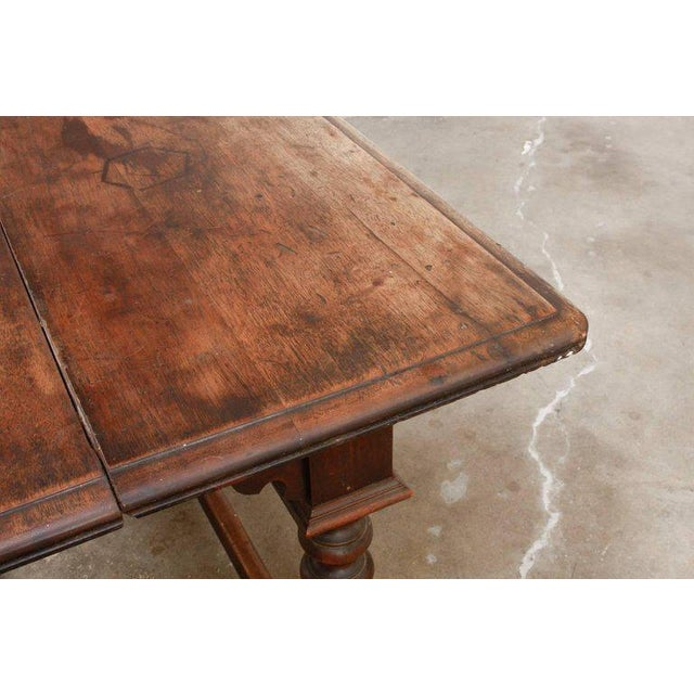 19th Century English Walnut Refectory or Console Table For Sale - Image 10 of 13