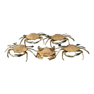 Solid Brass Crabs - Set of 5 For Sale