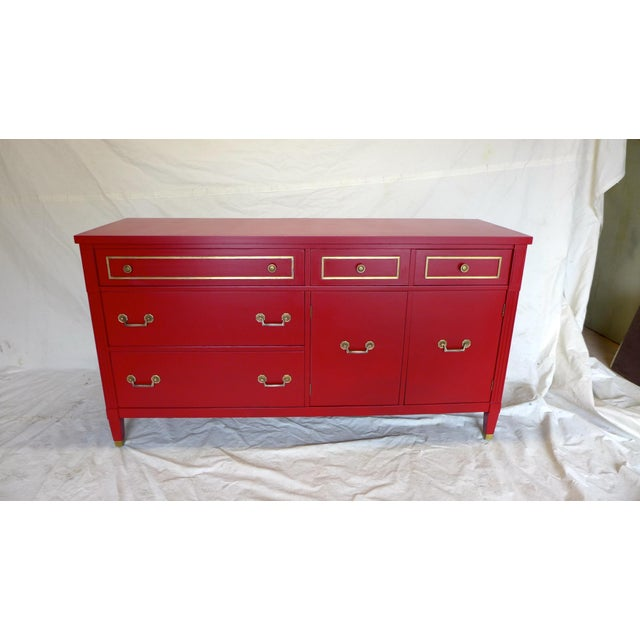 Mid-Century Cherry Red Sideboard - Image 7 of 10