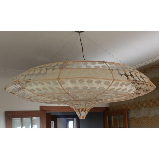 Modern Balinese-Style Chandelier For Sale - Image 3 of 8