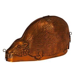 Copper Hedgehog Mold, England Circa 1860 For Sale