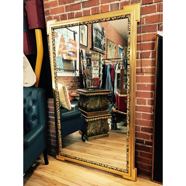 Deco Inspired 1980s Gold & Tiger Print Wall Mirror - Image 2 of 9