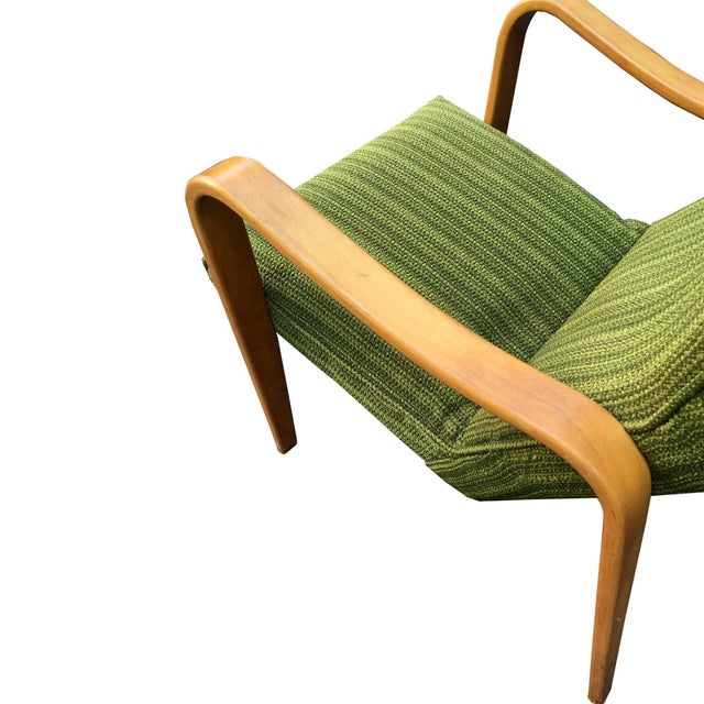 Thonet Mid-Century Modern Thonet Green Bentwood Lounge Chair For Sale - Image 4 of 5