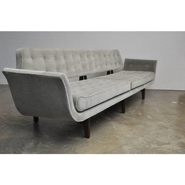 1950s La Gondola Sofa in Gray Mohair by Edward Wormley for Dunbar For Sale - Image 5 of 11