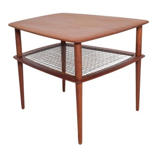 Mid Century Modern Peter Hvidt for France & Son, Teak Wedge Modernist Side Table For Sale