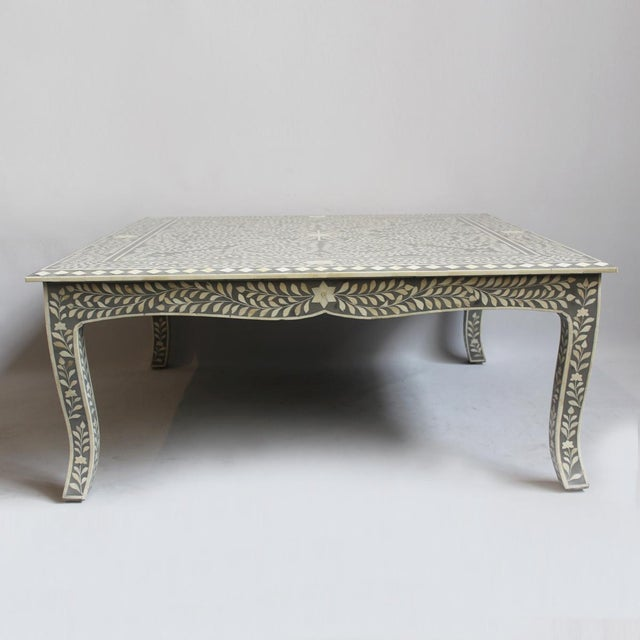 Square Coffee Table Grey: Grey Inlay Square Coffee Table