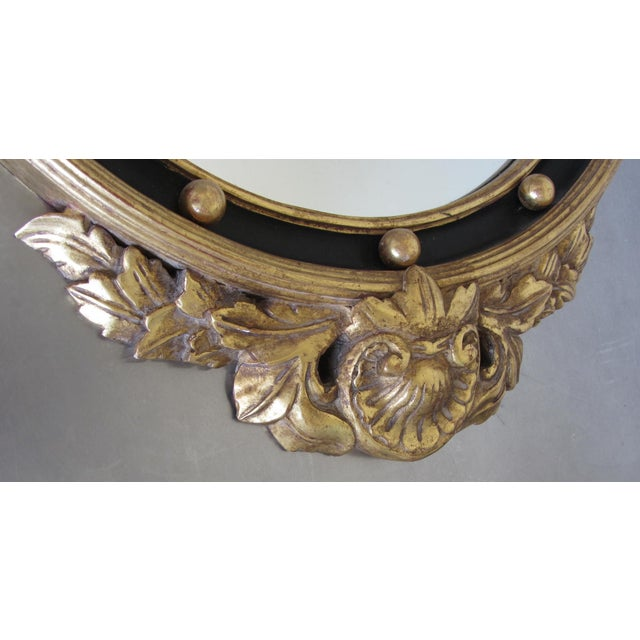 Hand Carved Gold Gilt Mirror With Eagle Crest For Sale - Image 4 of 9