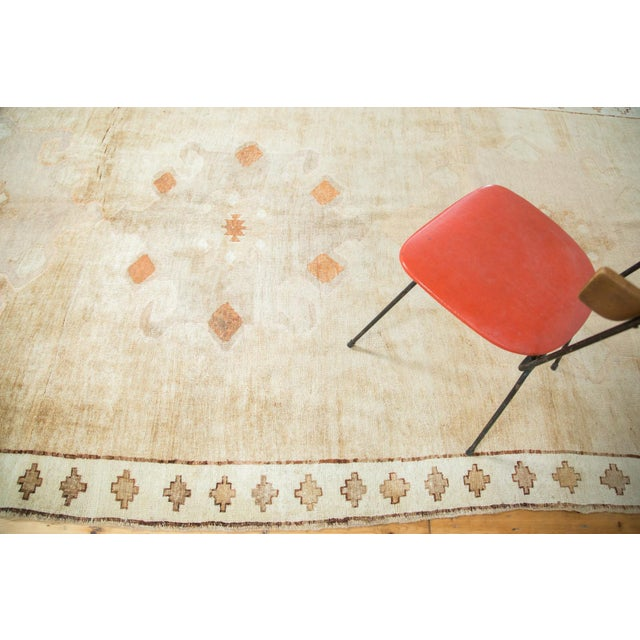 "Vintage Oushak Rug Runner - 6'3"" X 12'5"" For Sale - Image 9 of 10"