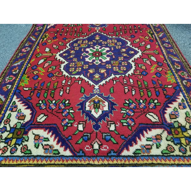 """Islamic 1950s Vintage Tabriz Persian Rug 3' 3"""" X 4' 8"""" For Sale - Image 3 of 8"""