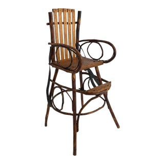 Primitive Homespun Child's Chair/ Highchair For Sale