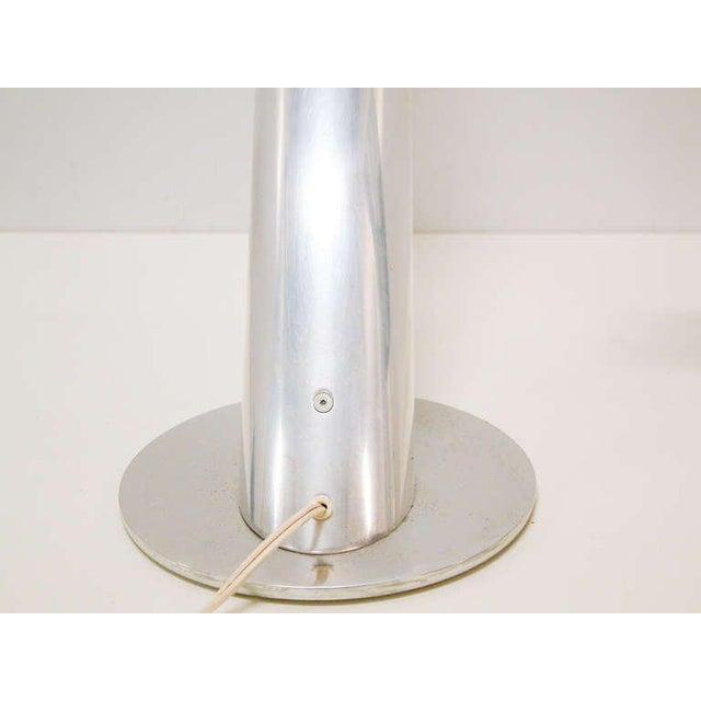 Metal 1970 Mid-Century Paul Mayen for Habitat Inc Polished Aluminum Lamps - A Pair For Sale - Image 7 of 11
