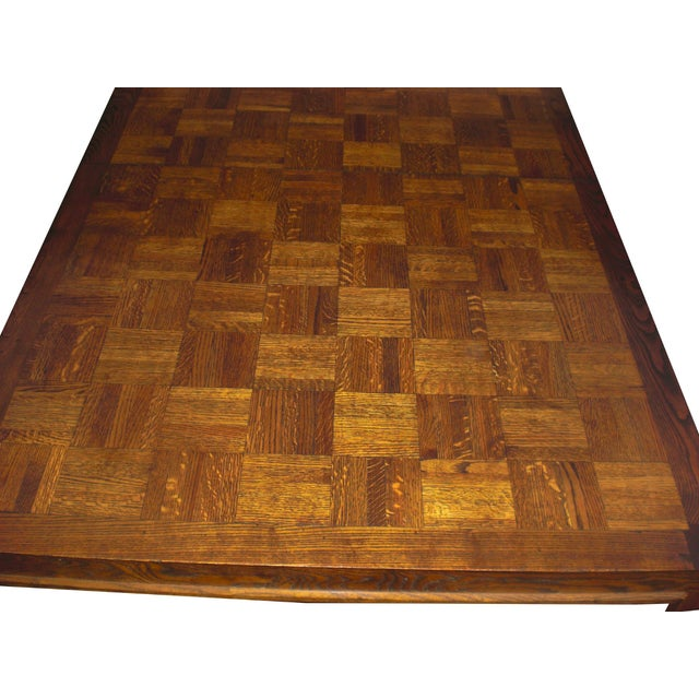 Mid-Century Modern Formica Wood Dining Set - Image 9 of 9