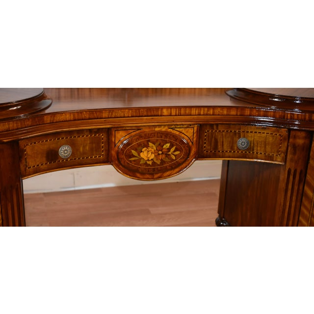 1900 - 1909 1900s Antique French Louis XVI Satinwood & Walnut Inlay Vanity For Sale - Image 5 of 13