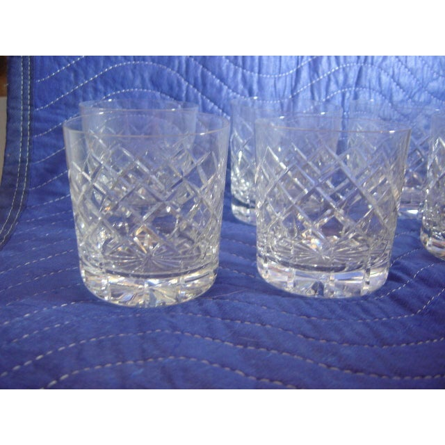 Art Deco Cartier Cut-Crystal Rocks Tumblers - Set of 8 For Sale - Image 3 of 4