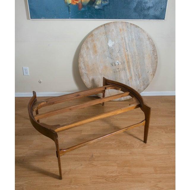 Bertha Schaefer Travertine & Walnut Coffee Table For Sale - Image 9 of 12