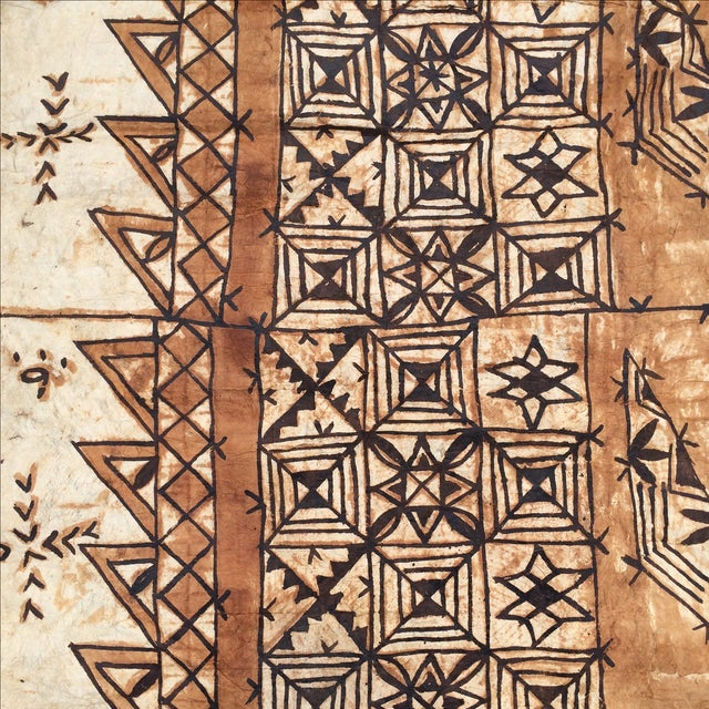 Tan Tapa Cloth Wall Hanging For Sale - Image 8 of 10