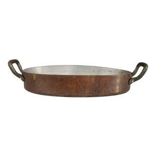 Copper Gratin Pan W/ Handles For Sale