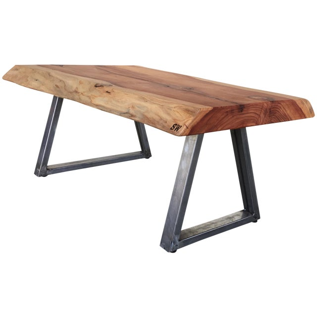 Live Edge Redwood Slab Coffee Table - Image 1 of 6
