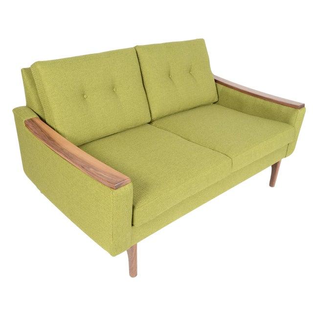 """Mid-Century Style """"Piedmont"""" Sofa in Avocado - Image 1 of 10"""