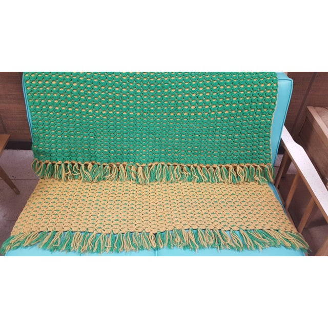 This is a one of kind afghan throw blanket like the one you would find at grandma's house.