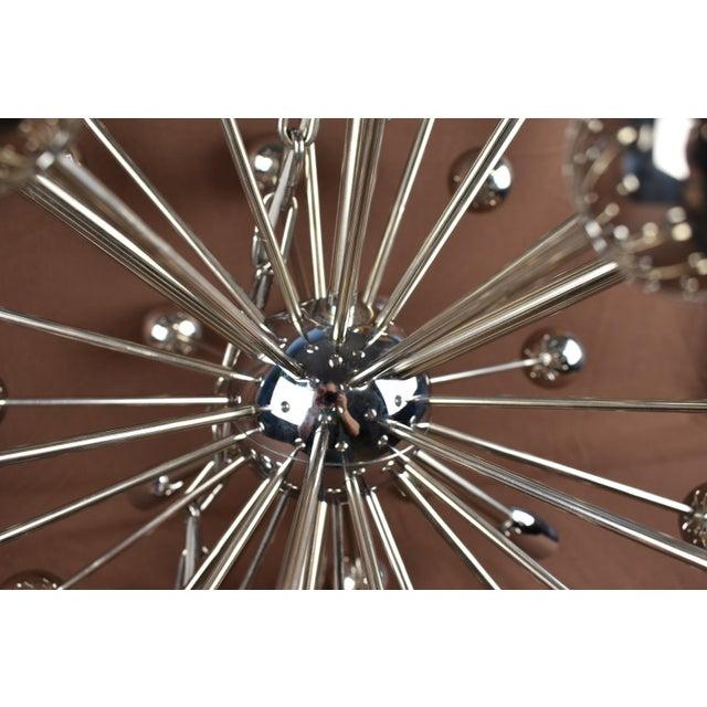 1960s Vintage Sputnik Chrome Chandelier For Sale - Image 4 of 7