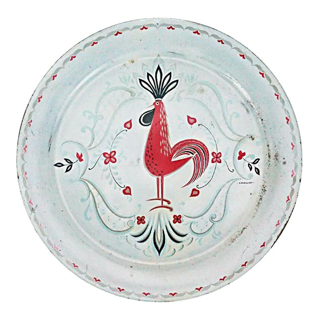 Vintage Metal Rooster Tray by Marcelline Stoyke - Image 1 of 5