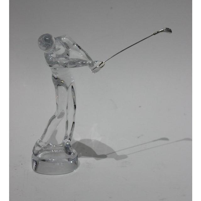 Transparent Baccarat Crystal Golfer Figurine For Sale - Image 8 of 9