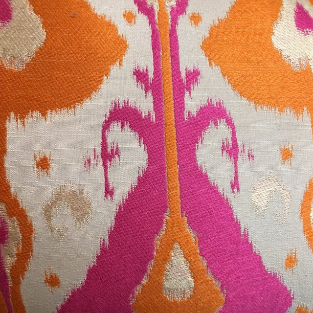 Custom Bright Ikat Pillow - Image 4 of 5