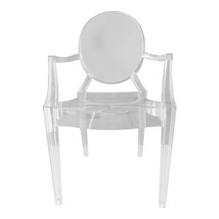 Phillip Stark for Kartell Louis Transparent Ghost Chair For Sale