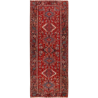 Vintage Persian Karaja Hand Woven Runner 5'3 X 13'3 For Sale