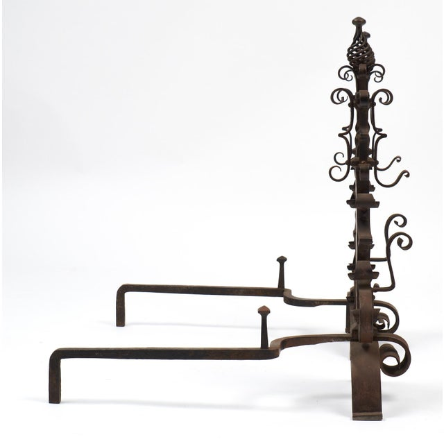 1950s Vintage French Andirons - a Pair For Sale - Image 5 of 10