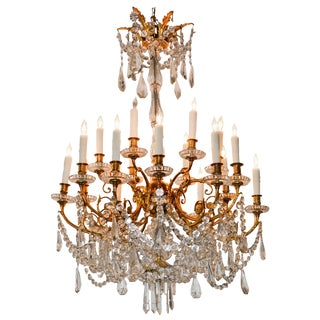 19th Century French Baccarat Chandelier For Sale