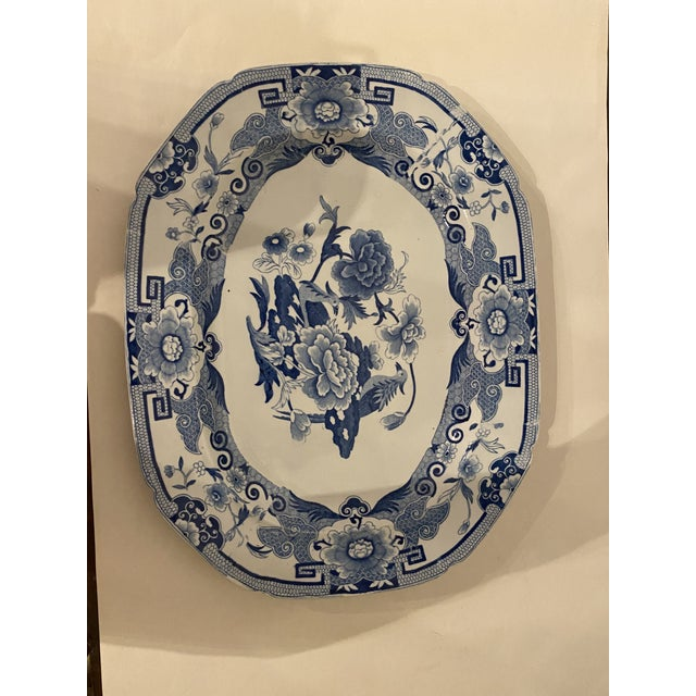 Antique Mason's Staffordshire Blue and White Platter For Sale In Washington DC - Image 6 of 9