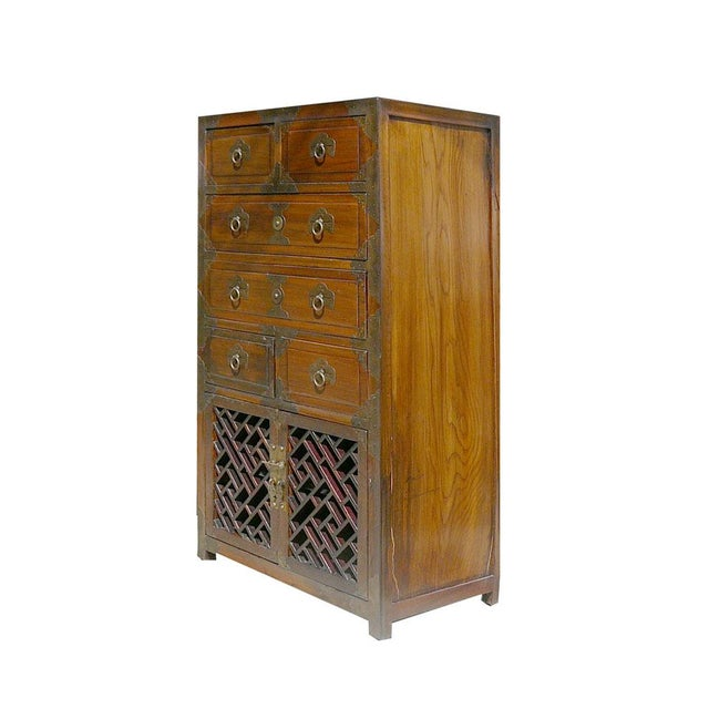 Korean Brass Hardware Accent Dresser - Image 3 of 5